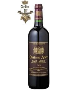 Rượu Vang Đỏ Chateau Aney Haut Medoc có mầu đỏ anh đào hấp dẫn. Hương thơm của mâm xôi, anh đào, thuốc lá