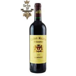 Rượu Vang Đỏ Chateau Malescot St. Exupery 2008 có mầu đỏ ánh tím. Hương thơm của trái cây và hoa quả. Hương vị của các loại trái cây