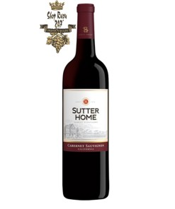Vang Đỏ Mỹ Sutter Home Cabernet Sauvignon có mầu đỏ đẹp mắt. Hương thơm phong phú của các trái cây đỏ cùng các gợi ý của vani