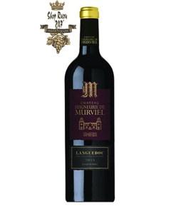 Rượu Vang Đỏ Pháp Chateau Seigneurie De Murviel Collection có màu đỏ anh đào. Hương vị đậm đà cùng hương thơm