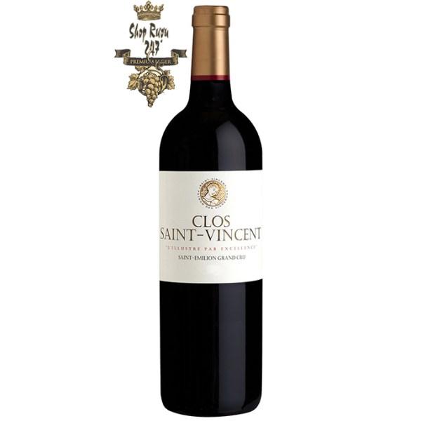 Rượu Vang Đỏ Pháp Clos Saint Vincent có màu đỏ anh đào đậm sâu. Hương thơm ghi chú của các loại trái cây mầu đỏ như anh đào