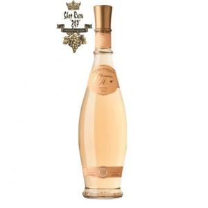 Rượu vang hồng Pháp Domaine d'Ott - Rose coeur de Grain màu hồng nhạt được đánh dấu, tùy thuộc vào loại rượu vang, với màu vàng, da cam