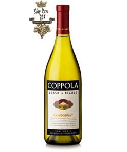 Rượu Vang Mỹ Coppola Rosso & Bianco Chardonnay có mầu vàng rơm sáng.Nó cung cấp các mầu sắc tươi sáng, sắc nét của trái cây
