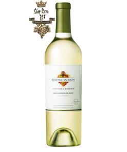 Rượu vang Mỹ Kendall Jackson Vintners Reserve Sauvignon blanc có được một màu vàng sớm đầy sắc nét cùng mùi hương thơm