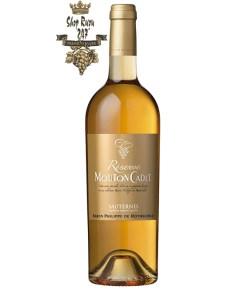 Rượu vang Pháp Baron Philippe de Rothschild Mouton Cadet Reserve Sauternes White có mùi vị hài hòa quyện lẫn đầy tươi mát của mật ong, trái cây tươi