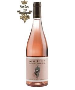 Rượu vang Pháp M.Chapoutier Marius Languedoc IGP Rosé có màu hồng anh đào, kết hợp với sắc thái rực rỡ của hoa hồng.