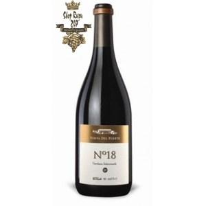 Rượu Vang Đỏ Tây Ban Nha No 18 có màu đậm anh đào mạnh mẽ. Hương vị phức hợp của các loại gia vị cùng với trái cây mầu đen