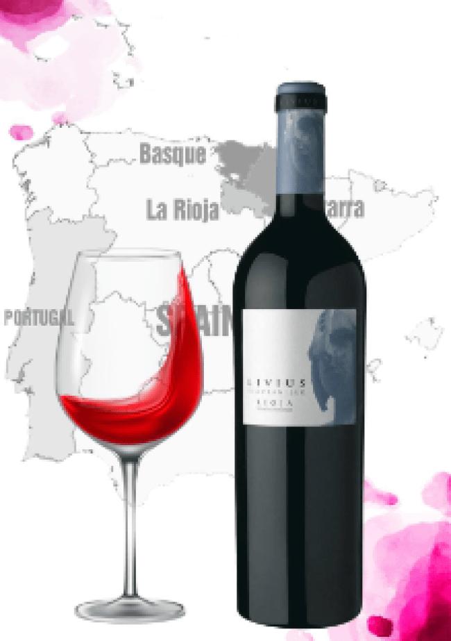 Rượu Vang Tây Ban Nha Livius Tempranillo D.O.Rioja có mầu đỏ anh đào nổi bật. Hương thơm của các loại hoa quả chín