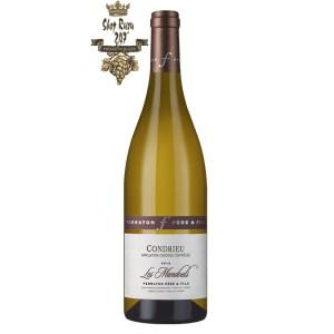 Rượu Vang Trắng Condrieu Les Mandouls Ferraton Pere & Fils có mầu vàng nhạt. Hương thơm mạnh mẽ của trái cây nhiệt đới như dứa, vải thiều