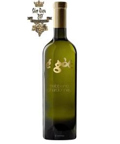 Rượu vang Ý E Got Trebbiano Chardonnay 2019 với màu màu vang rơm ánh xanh đẹp mắt, rượu trở nên đặc trưng hơn