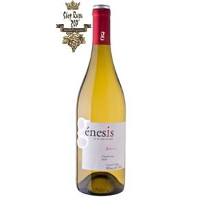 Rượu Vang Trắng Genesis Reserva Chardonnay có màu vàng rơm tươi sang. Hương thơm của chuối, dứa cùng gợi ý của vani.
