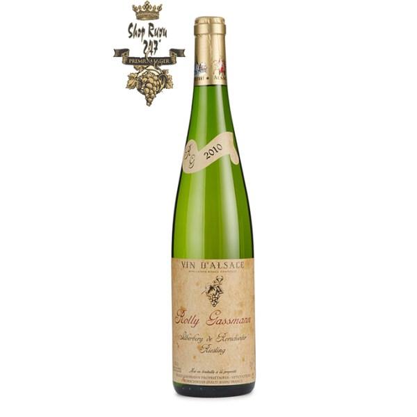 Rượu Vang Trắng Rolly Gassmann Silberberg De Rorschwihr Riesling có mầu vàng chanh đậm đặc. Hương thơm của các loại trái cây nhiệt đới như dứa