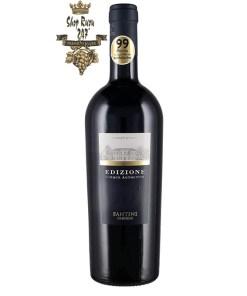 Rượu Vang Ý Đỏ FARNESE Edizione Cinque Autoctoni có màu đỏ rất sâu. Rất dai dẳng với các ghi chú của anh đào và nho đen