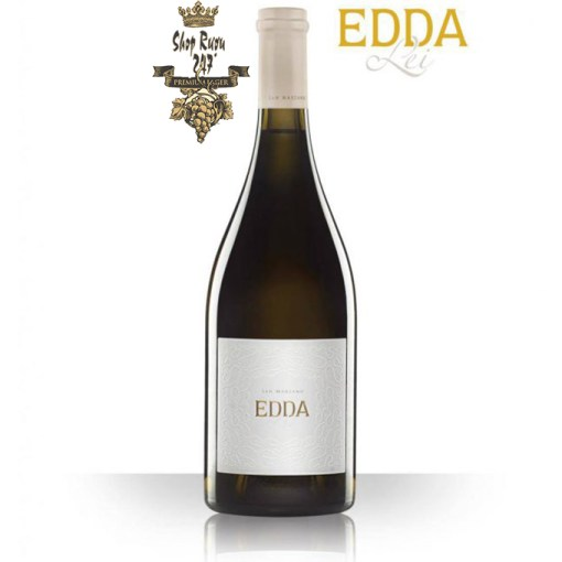 Rượu Vang Ý Trắng EDDA LEI Bianco Salento IGP có mầu vàng rơm. Hương thơm của nước hoa êm dịu, quả đào, vani tinh tế