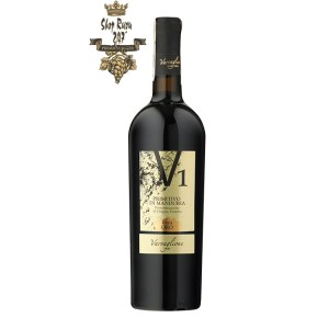 V1 Primitivo di Manduriacó cấu trúc hài hòa, vị chát tanin êm mượt, dẻo dai. Nhà làm rượu Varvaglione đã thổi hồn vào trong chai rượu vang với một kết thúc mượt mà