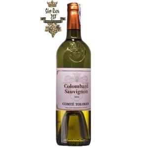 Comte Tolosan Colombard Sauvignon IGP là một chai rượu vang ngọt ngào, vô cùng mềm mượt và dễ uống