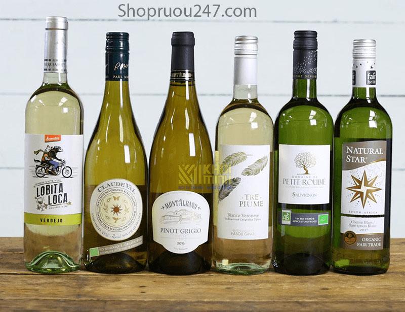 Một số loại rượu vang trắng được ưa chuộng