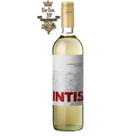 Rượu Vang Argentina FincaLas Moras Intis White có màu vàng rơm nhạt. Mang hương hoa tươi mát