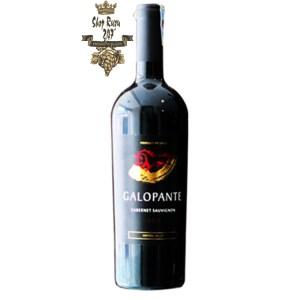 Rượu Vang Chile GALOPANTE Cabernet sauvignon có màu đỏ ruby đậm đẹp mắt, Có hương vani và gia vị,