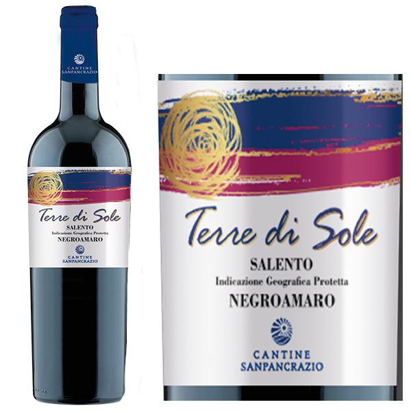 Vang Ý Đỏ Terre Di Sole Negroamaro có màu đỏ đậm đẹp mắt, thu hút mọi ánh nhìn ngay từ lần chạm mặt đầu tiên.