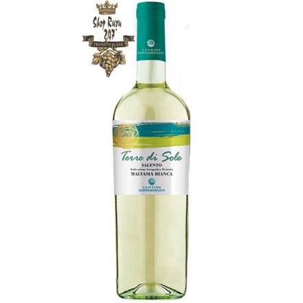 Rượu có màu vàng rơm kết tinh với sự phản chiếu màu xanh lục, hương thơm của các loại trái cây màu vàng và đặc trưng của vùng Địa Trung Hải,