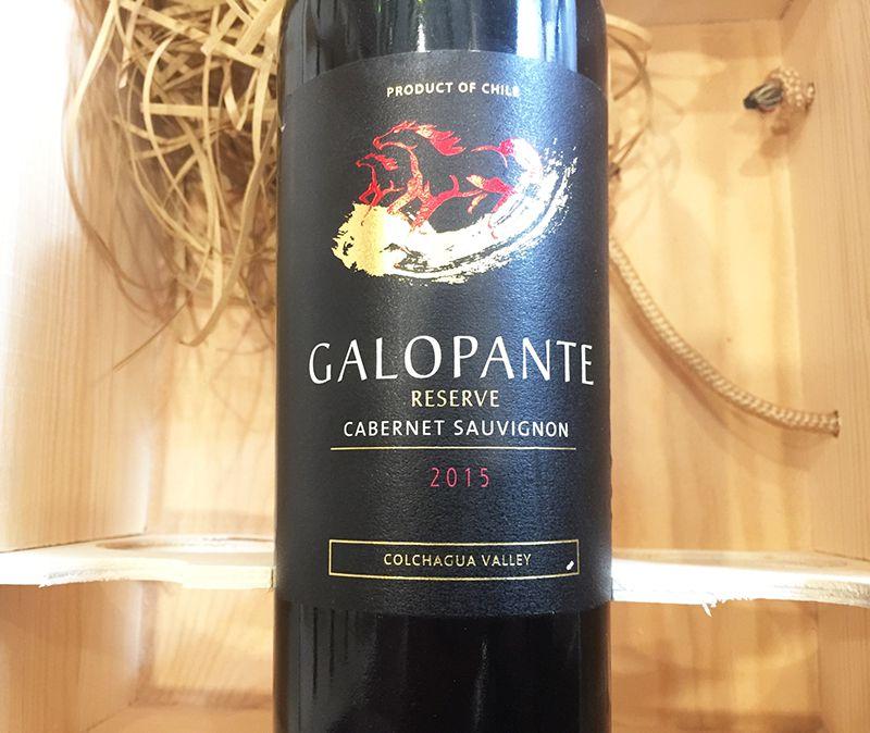 Rượu Vang Đỏ GALOPANTE Reserva Cabernet sauvignon có màu đỏ ruby đậm đẹp mắt. Hương thơm trái cây chín mọng