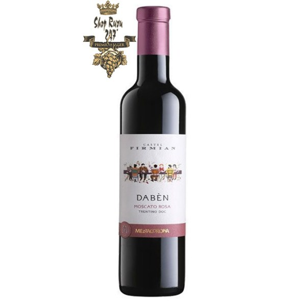 Rượu Vang Đỏ Castel Castel Firmian DABEN có màu đỏ ruby tươi sáng với màu hồng ngọc nhạt.