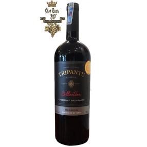 Vang Chile Đỏ Tripantu Collection Cabernet Sauvignon có màu đỏ tím đậm. Hương thơm thanh lịch của quả mâm xôi đen