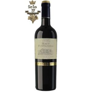 Rượu Vang Pháp Haut Fontaniels Languadoc được kết hợp từ 2 giống nho nổi tiếng của Pháp là Grenache và Syrah