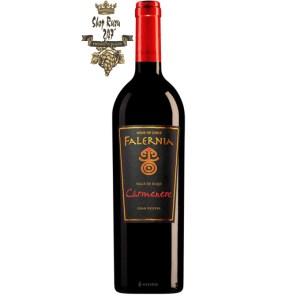 Rượu Vang Chile FALERNIA CARMENERE GRAN RESERVA có màu đỏ ánh tím đậm, một hương vị độc nhất