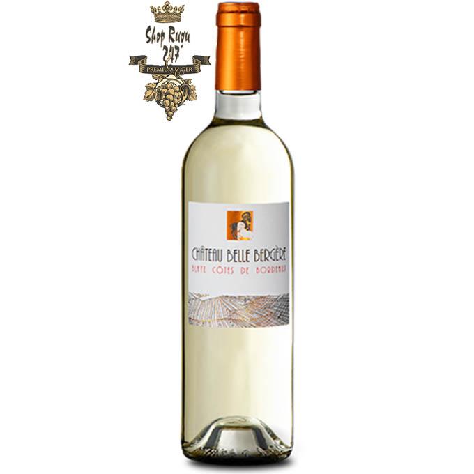 Vang Pháp Đỏ CHÂTEAU BELLE BERGÈRE trắng có màu vàng nhạt, hương vị đậm đà, tươi mới của cam, chanh