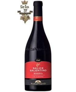 Rượu Vang Ý Đỏ Lu ceppu salice được đặc trưng bởi chiết xuất lớn và cô đặc, rượu vang cho thấy độ đậm đặc và đặc tính