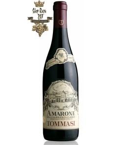 Rượu Vang Ý AMARONE VALPOLICELLA Blend có màu đỏ ruby rất đậm, trên mũi chúng để lộ mùi hương mãnh liệt và sạch sẽ