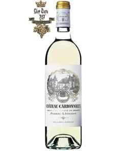 Vang Pháp Château Carbonnieux Pessac Leognan Grand Cru Classe 2013 có màu vàng rơm nhạt. Hương thơm tinh tế của rượu cho thấy hương quýt, chanh,