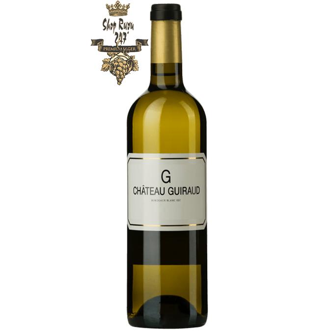 Rượu Vang Pháp Château Guiraud Bordeuax Blanc Sec 2016 là sự pha trộn của 50% Semillon và 50% Sauvignon Blanc, 80% trong số đó đã được lên men
