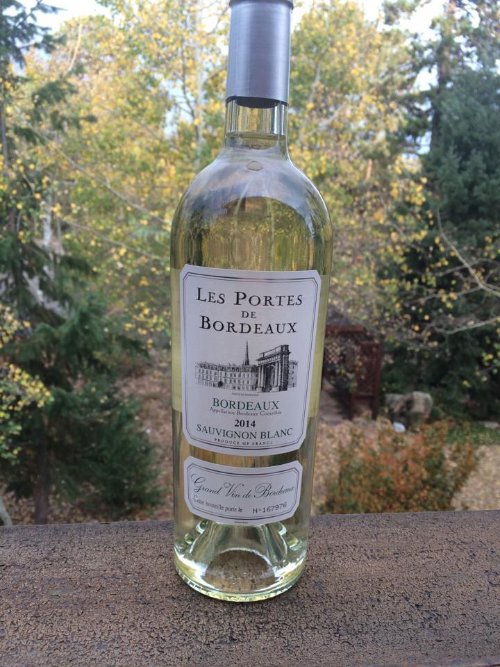 Vang trắng Les Portes de Bordeaux Sauvignon Blanc 1