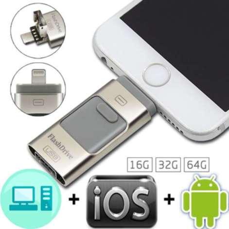 Buy Iflash 3 in 1 USB Flash Drive 16 32 64 GB in Pakistan | Shopse.pk