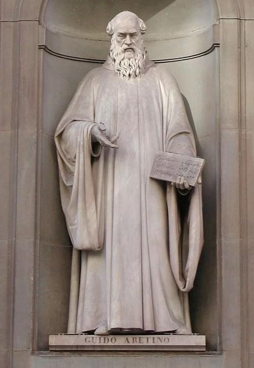 семь нот памятник монаху Гвидо Аретинский