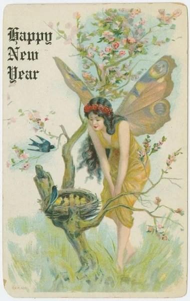 Старые новогодние открытки 20