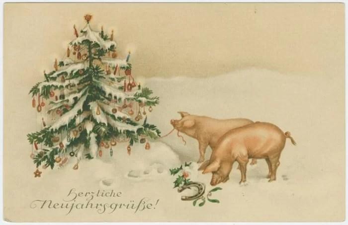 Старые новогодние открытки 29