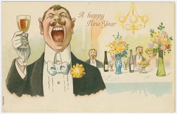 Старые новогодние открытки 38