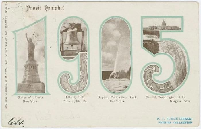 Старые новогодние открытки 4