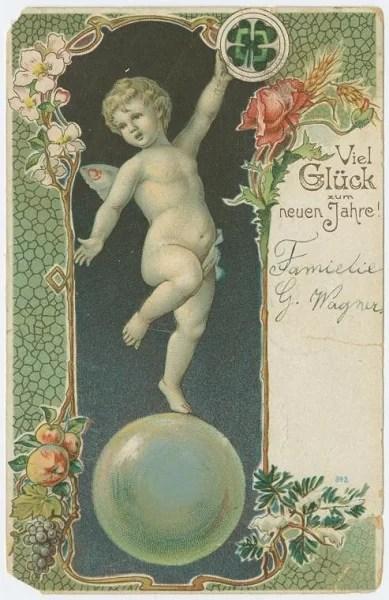 Старые новогодние открытки 5
