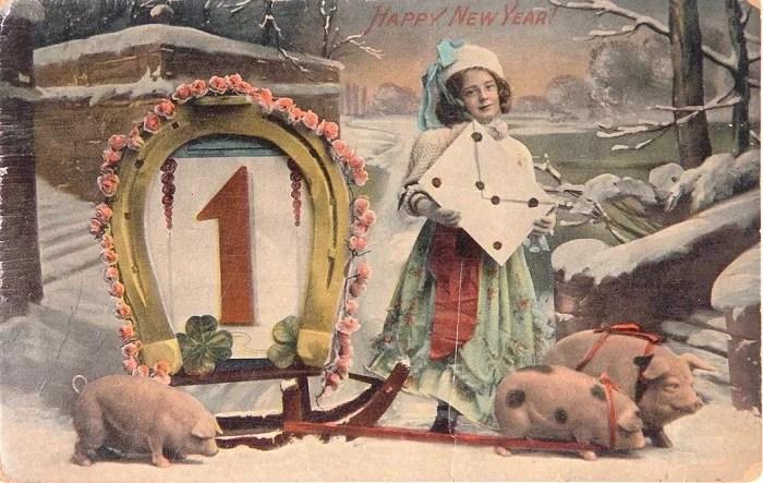 Старые новогодние открытки 6