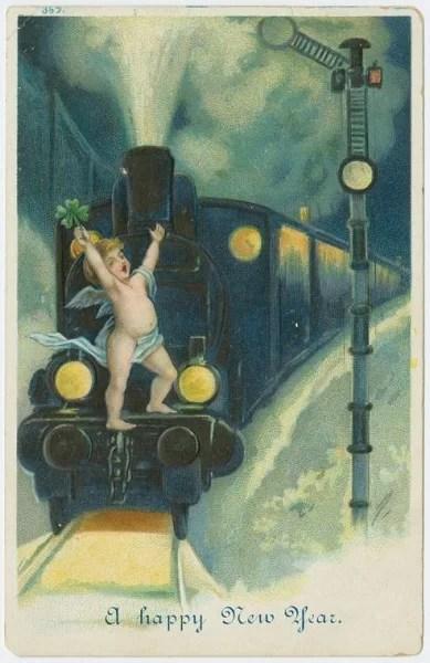 Старые новогодние открытки 7