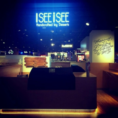 I SEE i SEE ice cream cafe in Singapore.