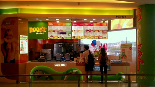 Boost Juice Bars at VivoCity in Singapore.