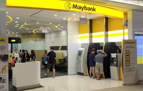 Maybank branch Waterway Point Singapore.