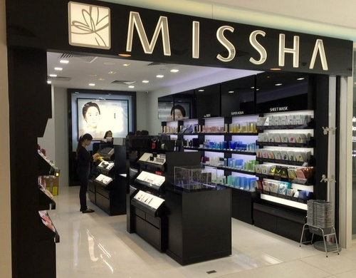 Missha cosmetics store at White Sands shopping centre in Singapore.