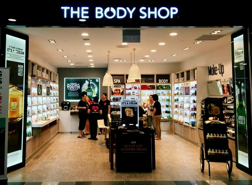 The Body Shop store at Tiong Bahru Plaza in Singapore.